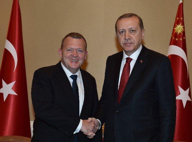 Cumhurbaşkanı Erdoğan, Danimarka Başbakanı Lokke İle Görüştü