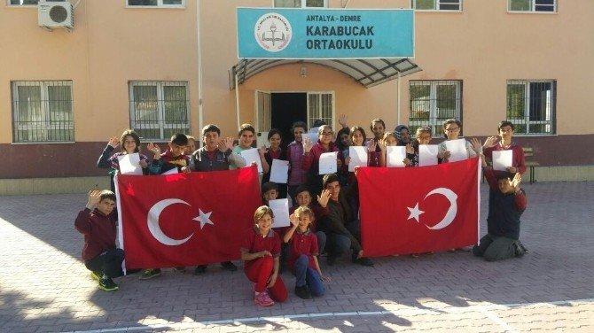 Demreli Öğrencilerden Cizre'deki Polis Ve Jandarma Abilerine Moral