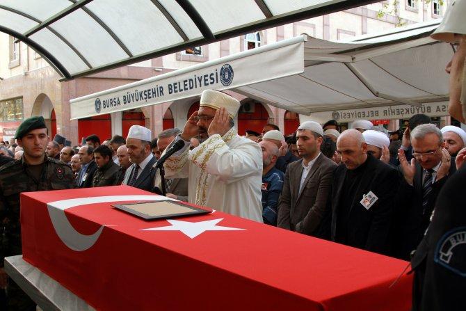 Diyarbakır'da şehit olan polis, Bursa'da dualarla uğurlandı
