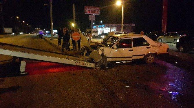 Düzce'de 2 Otomobil Çarpıştı: 1 Yaralı