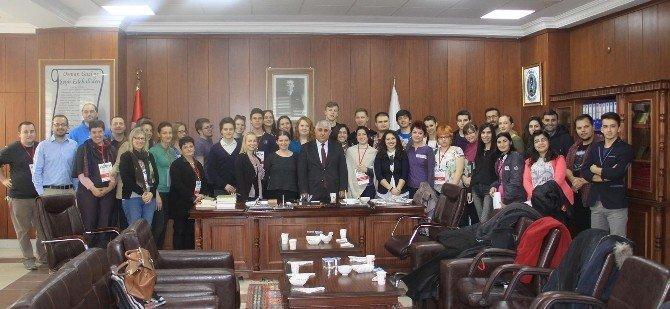 Erasmus Öğrencileri Sorgun Belediye Başkanı Şimşek'i Ziyaret Etti