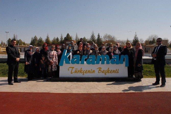 Belediye Ev Hanımlarına Karaman'ı Gezdiriyor