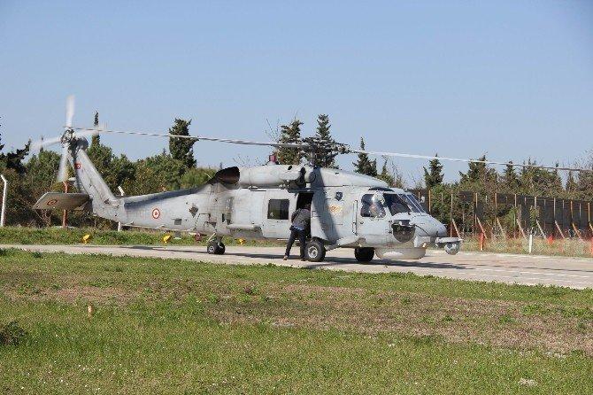 Tatbikatta Yaralanan Astsubay, Helikopterle Hastaneye Kaldırıldı