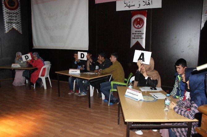 İmam Hatip Liseleri Arasında Arapça Yarışması Düzenlendi
