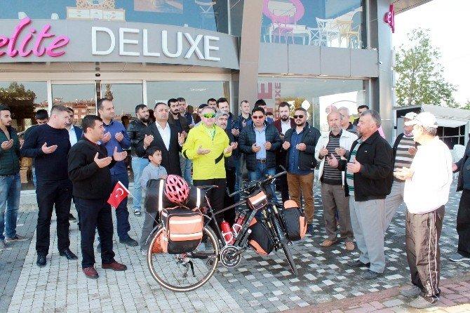 Antalyalı İşadamı Barış İçin 3 Bin Kilometre Pedal Çevirecek