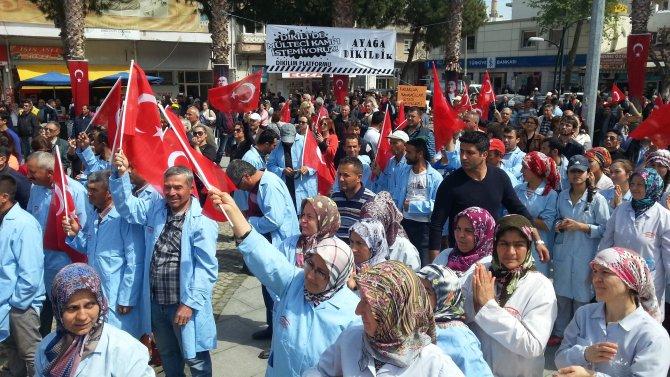 Dikili'de 'mülteci kampı istemiyoruz' eylemi