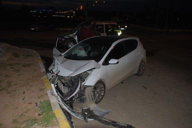 Batman'da İki Otomobil Çarpıştı 8: Yaralı