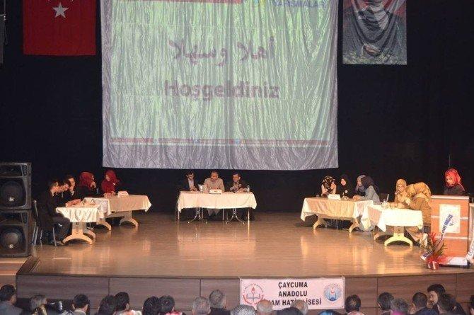 Çaycuma'da Arapça Şiir,şarkı Ve Hikaye Canlandırma Yarışması Yapıldı