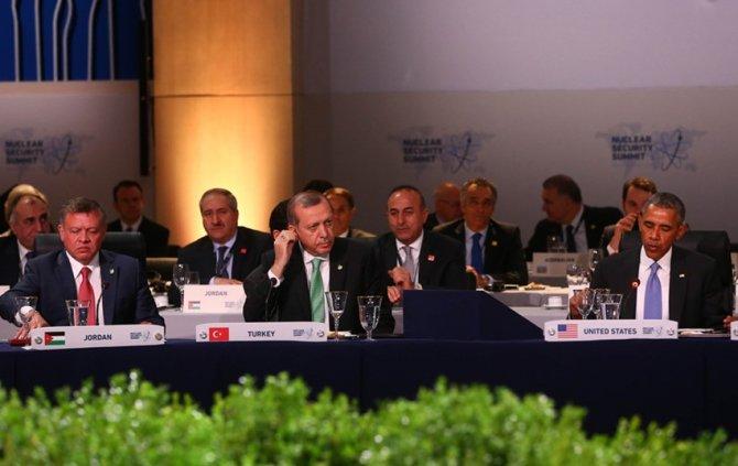 Erdoğan, Nükleer Güvenlik Zirvesi çalışma yemeğine katıldı