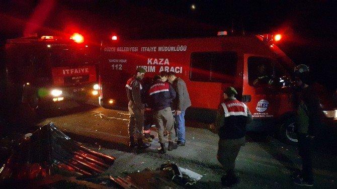 TEM Otoyolunda Kaza; 16 Yaralı