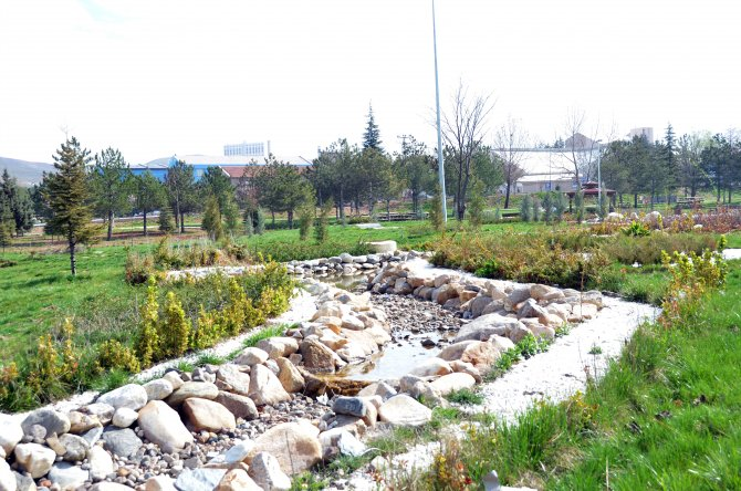 Kırıkkale Üniversitesi Kampüsü'nde peyzaj çalışması