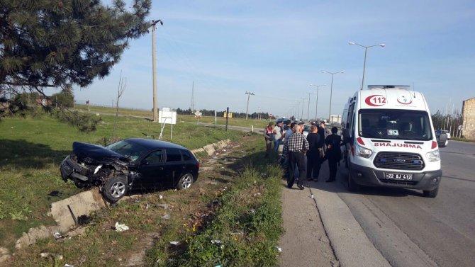 Kaza yapan Bulgar vatandaşlar ölümden döndü