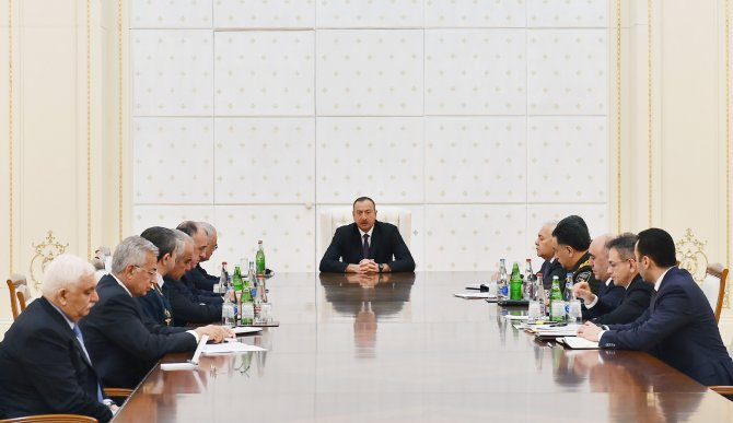 Cumhurbaşkanı Aliyev, Güvenlik Konseyi'ni topladı