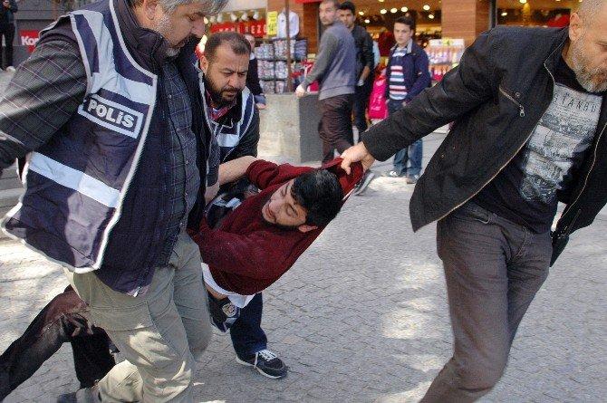 Başkentte Stant Gerginliği: 15 Gözaltı