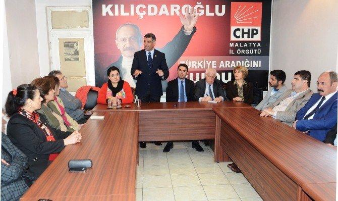 CHP Tunceli Milletvekili Gürsel Erol Malatya'da