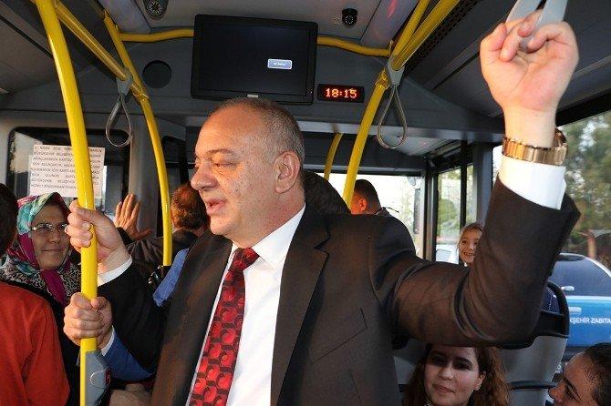 Başkan Ergün Açılışa Otobüsle Gitti