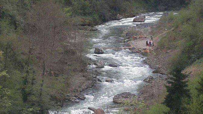 Ağaç Köprüden Düşen Kadın Irmakta Kayboldu