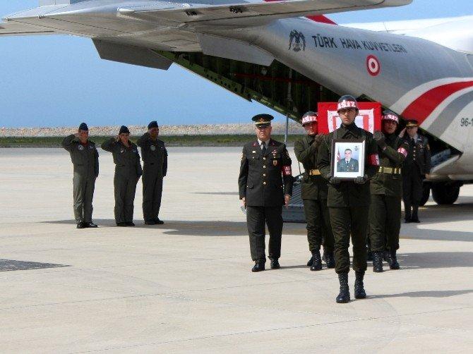 Şehit Uzman Çavuş Bekir Kelleci'nin Naaşı Ordu'ya Getirildi
