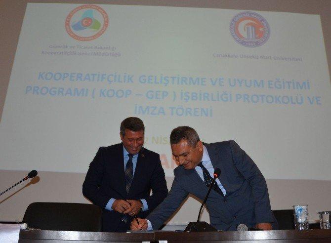 Kooperatif Genel Müdürlüğü İle ÇOMÜ Arasında İşbirliği Protokolü İmzalandı