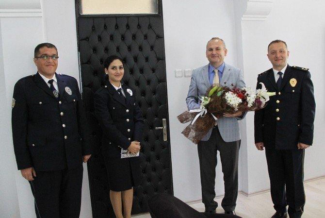 Didim Emniyet Müdürü Selçuk'tan Kaymakam Yönden'e Polis Haftası Ziyareti