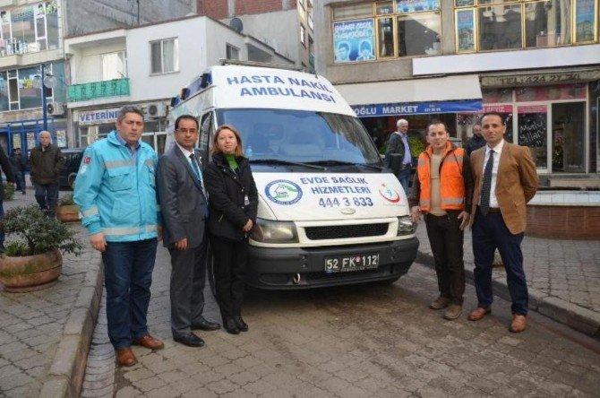 Fatsa'da Evde Sağlık Hizmetleri Devam Ediyor