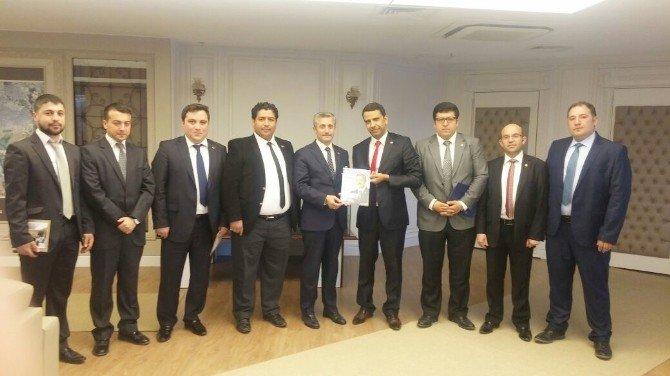 Gen TÜMSİAD'dan Başkan Tahmazoğlu'na Ziyaret