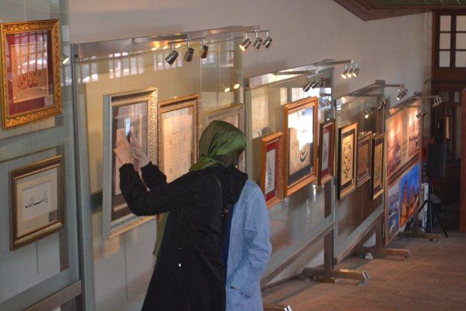 Hüsn-i Hat eserleri Hünkar Kasrı'nda sergiye açıldı