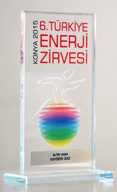 Kayserigaz'a Altın Vana Ödülü