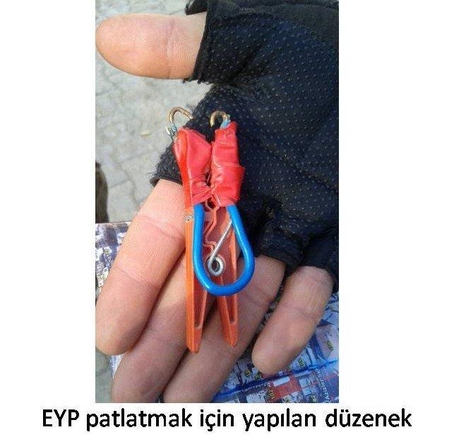 PKK'lı Teröristler Çamaşır Mandalından El Yapımı Bomba Düzeneği Hazırladı