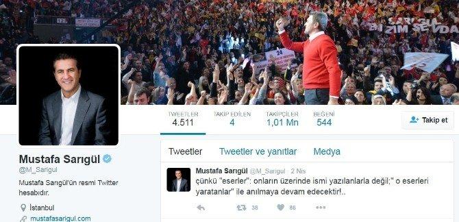 Mustafa Sarıgül'den Sitem