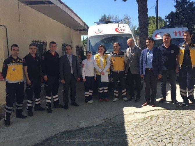 Edremit 112 Üç Yeni Ambulans