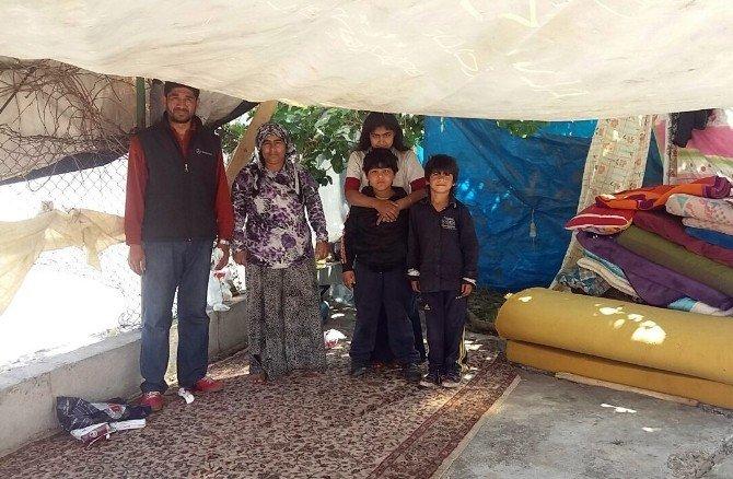 İstenmeyen Kiracı 4 Çocuğuyla Çadır Kurdu