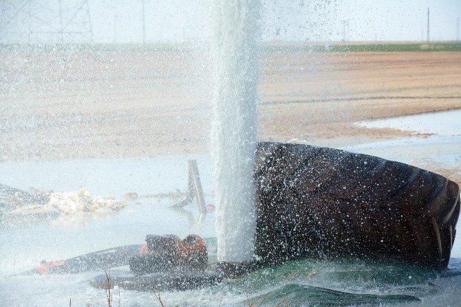 Aksaray'da Kuyudan Karbondioksit Ve Su Fışkırdı