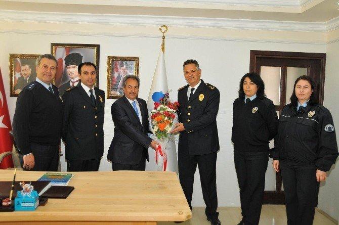 Emniyet Müdürü Çelik'ten Başkan Akkaya'ya Ziyaret