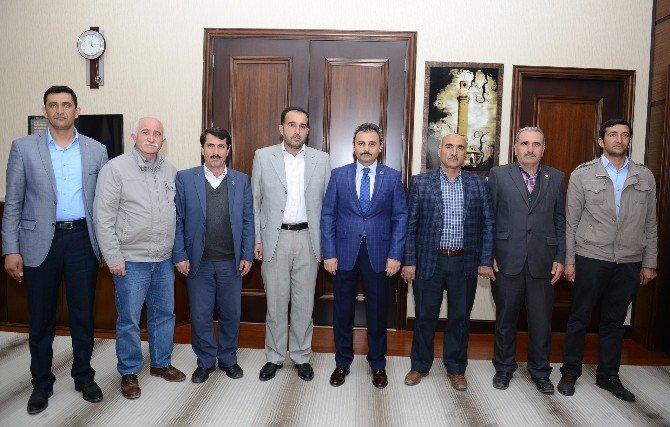 Muhtarlardan Başkan Külcü'ye Ziyaret