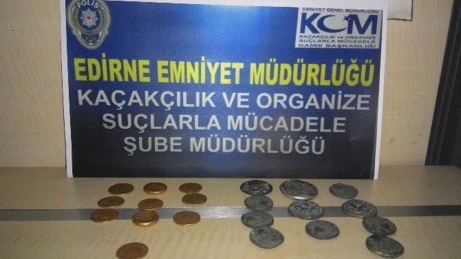 Edirne'de Tarihi Sikke Operasyonu