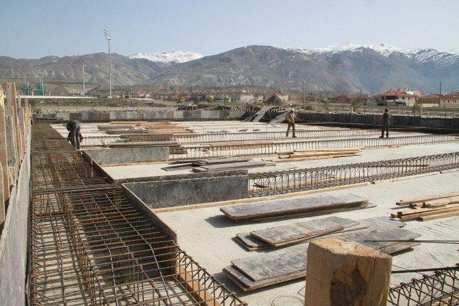 Başsoy Yeni İtfaiye Binası İnşaat Çalışmalarını İnceledi