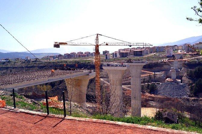 Kanyon Köprü Ayaklarının İnşaatı Bitti