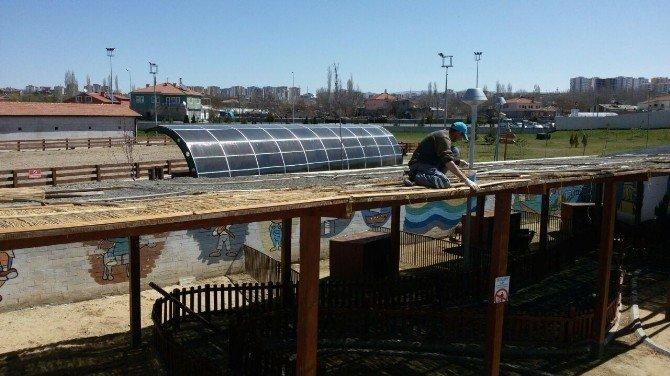 Hayvanat Bahçesi Bakım Onarım Çalışmaları Devam Ediyor