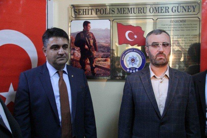 Şehit Polis Ömer Güney'in Adı Aile Sağlığı Merkezi'nde Yaşatılacak