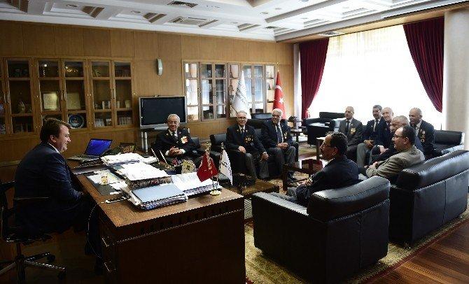 Tümgazider'den Başkan Erkoç'a Ziyaret