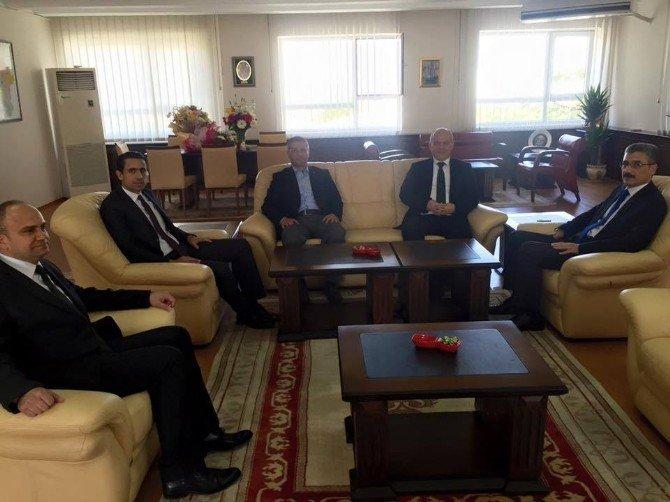 AK Partili Gürcan'dan Bilgiç'e 'Hayırlı Olsun' Ziyareti
