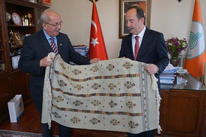 Başkan Albayrak Ve Teski Genel Müdürü Başa, Gürkan'ı Ziyaret Etti