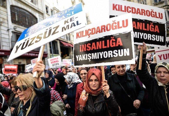 AK Partili Kadınlar CHP Lideri Kılıçdaroğlu'nu Protesto Etti