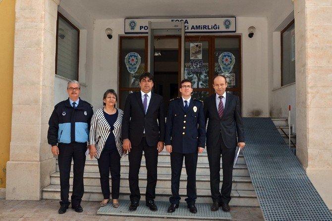 Başkan Demirağ'dan Foça Emniyet Müdürlüğü'ne Ziyaret