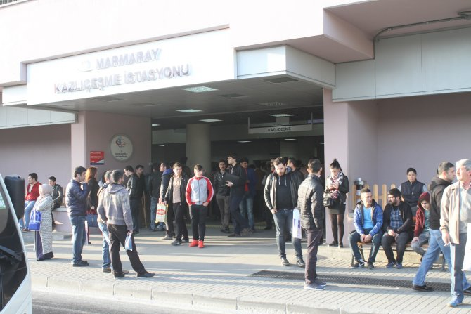 Marmaray'da arıza: Seferler 1 saat aksadı