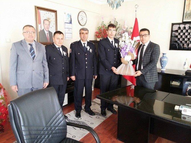 Kaymakam Bayraktar'a Polis Haftası Ziyareti
