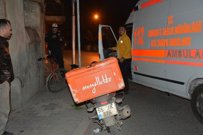 Motosikletle Bisiklet Çarpıştı: 1 Yaralı