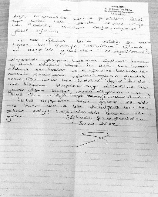 İsmail Akkol Üzerinden Fehriye Erdal'a Cezaevinden Göndermede Bulundu