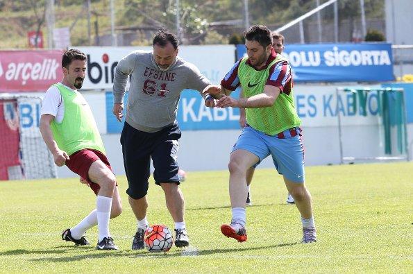 Trabzonspor'da neşeli antrenman